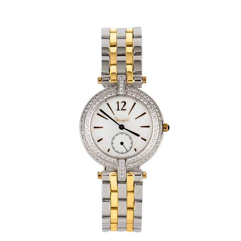 Beautylok Diamonds Watch Casual Fashion Calendars Watches Waterproof Rose Gold Stainless Steel Straps Ladies Watch Quartz Watch