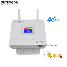 Unlocked 4G LTE CPE Mobile WiFi Router With LAN Port Support SIM Card Multi Bands 10 Wi-Fi Users Portable Wireless Router 300mbps unlocked 4g lte cpe wireless router support sim card 4pcs antenna with lan port support up to 32 wifi users wps function