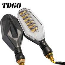 TDGO Motorcycle LED Turn Signal Lights 2Pcs/Set Amber Lamp Left Right Signals Indicators Wires Universal For Honda Kawasaki 2019
