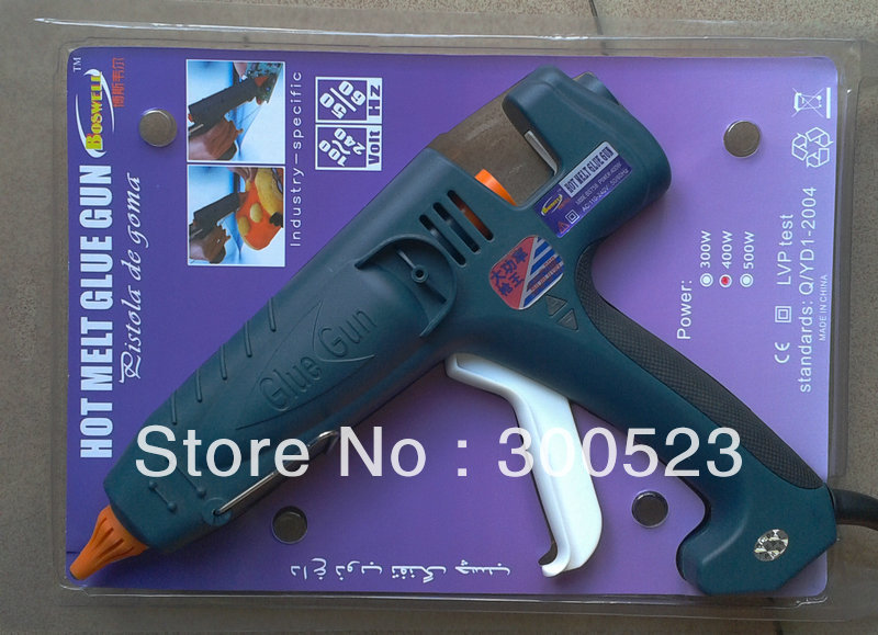 400W high-power hot melt glue gun, EU plug, plus glue stick 5pcs nozzle 1pcs 1set/lot, free shipping.