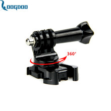 LoogDoo for Gopro accessories 360 Degree Rotate J-Hook Buckle Adapter Mount  for GoPro Hero 5 4 3+ for xiaomi for yi 4K  GP203B