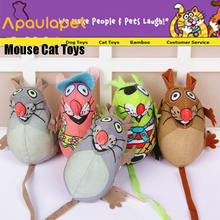 APAULAPET 6 шт./компл. Fatcat Pet маленькая собака мыши игрушка, толстый кот полотняная игрушка цветная мышь игрушки для кошек с мятой Catnip забавные