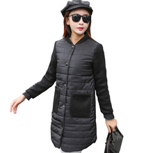 2017 New Spring Parka Jacket Women Winter Coat Womens Medium-Long Cotton Padded Warm Jacket Coat High Quality Hot Sale