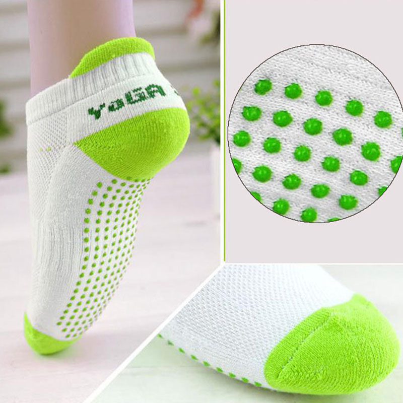 Women Fitness Women Professional Yoga Socks Anti Slip Rubber Dots Sports Indoor Exercise Socks Latex Pilates Breathable Socks ...