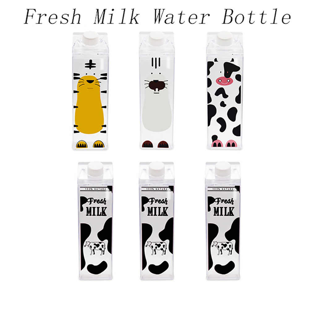 My Creative Climbing Tour Outdoor Adults Milk Water Bottle Animal Cow Kitchen Fresh Milk Camping Children Kids Men Water Bottles