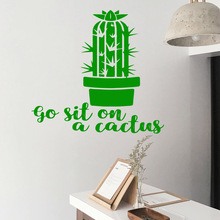 Creative cactus Removable Art Vinyl Wall Stickers For Kids Rooms Nursery Room Decor Decals