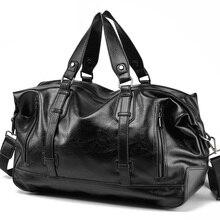 Mężczyźni torebka skórzana torba podróżna o dużej pojemności moda torba na ramię mężczyzna podróż gruba wełniana torba tote Bag Casual torby kurierskie crossbody