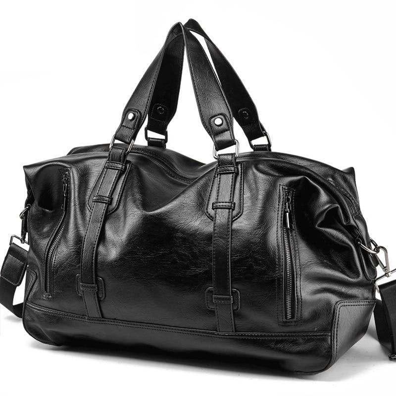 Men Handbag Leather Large Capacity Travel Bag Fashion Shoulder Bag Male Travel Duffle Tote Bag Casual Messenger Crossbody Bags