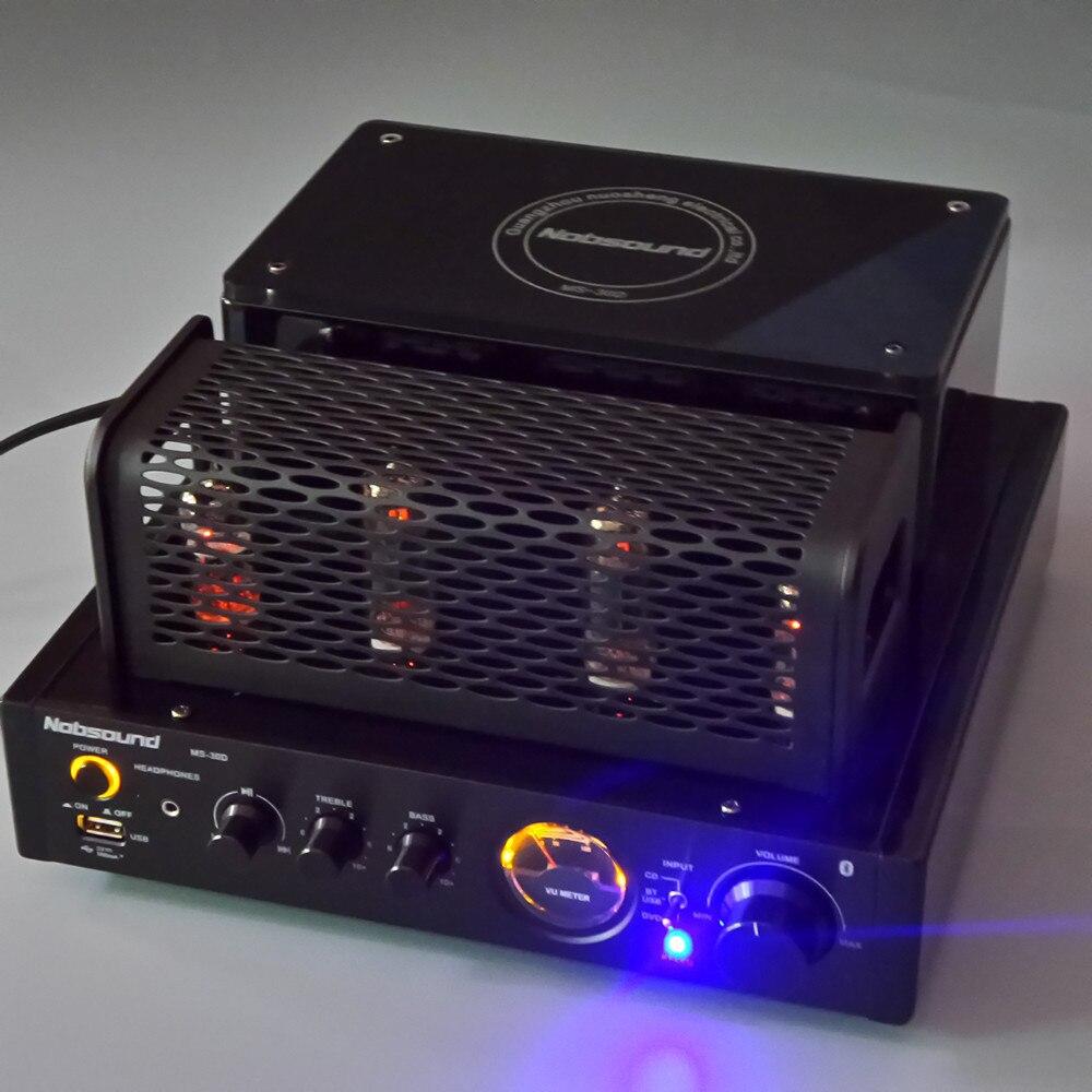 Nobsound MS-30D noir Bluetooth 4.2 USB lecteur de musique maison bibliothèque haut-parleur HiFi amplificateur de tube