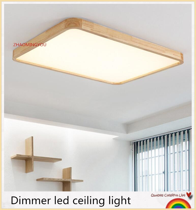 You Led Ceiling Light With Ultra Thin 7cm Wood Mission Lighting For Living Room Bedroom Flush Mount Home Decorative Lampshade Ceiling Lights Aliexpress