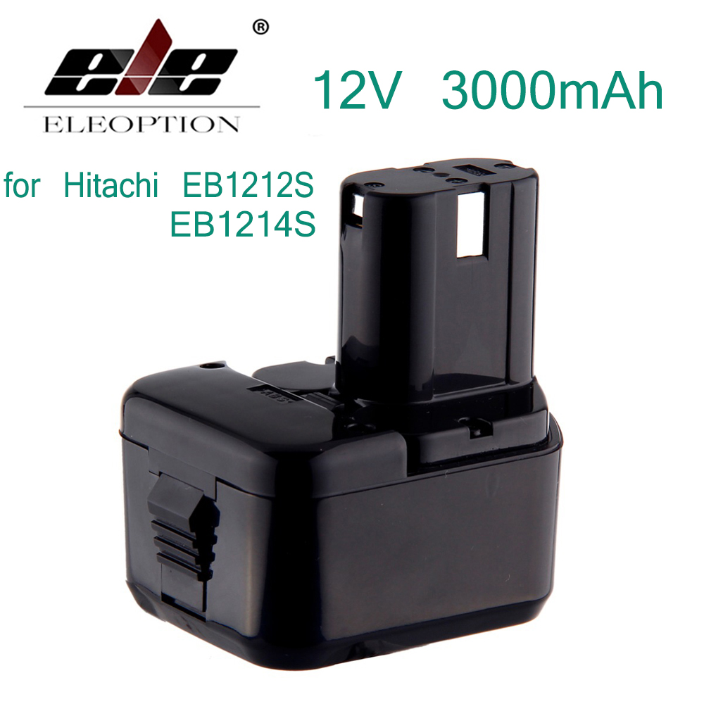 ELE ELEOPTION New Ni-MH 3000mAh 12V 3.0Ah Cordless Drill Rechargeable Power Tool Battery for Hitachi EB1212S EB1214S Battery floureon 12v 3 0ah battery for hitachi 3000mah ni mh power tool replacement battery hit for eb1212s eb1214l eb1214s eb1220bl