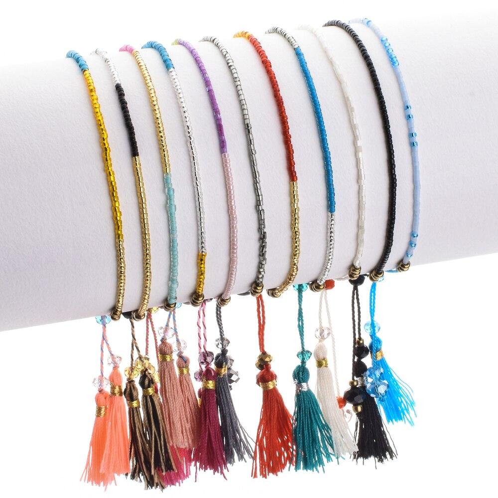 ZMZY чешские дружба Браслеты для Для женщин бисер Miyuki бусинами многослойная кисточка браслет ручной работы Модные украшения подарки