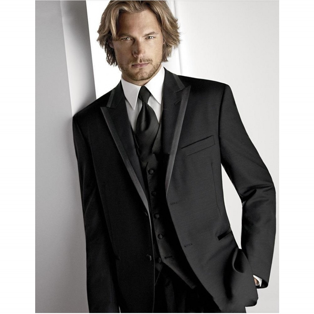 Popular Modern Black Mens Wedding Suits-Buy Cheap Modern Black ...