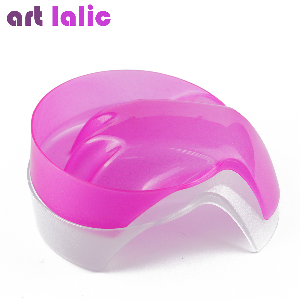 Artlalic 1pc Pink Clear Nail Art Hand Wash Remover Soak Bowl Salon Glitter Nail Spa Bath Treatment Manicure Care Bowl