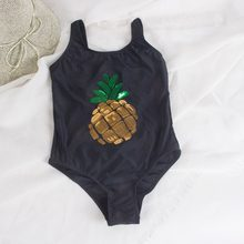 7-14 years pineapple decoration kids girls one piece swimsuit girls swimwear 2019 children swimsuit cute baby bathing suit A21(China)