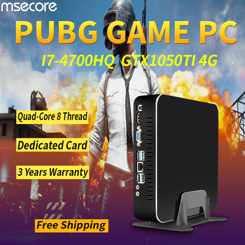 MSECORE I7 4700HQ GTX1050TI 4G Dedicat Gaming Mini PC Windows 10 intel Desktop-Computer barebone Nettop linux WIFI bluetooth 4,0