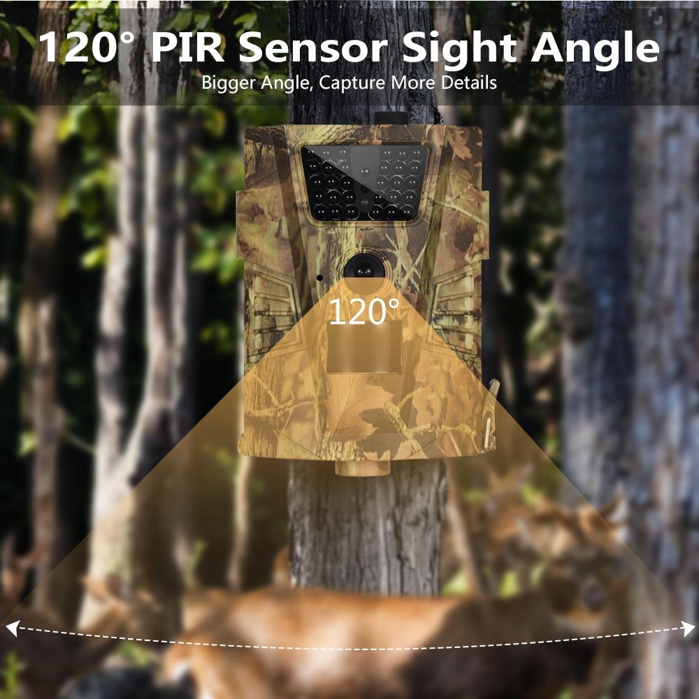 Image 4 - Goujxcy HT 001B Trail камера 30 шт. 850nm Инфракрасные светодиоды охотничья камера Скаут Водонепроницаемая 120 градусов ловушки для фотоаппаратов Дикая камера-in Камеры для охоты from Спорт и развлечения