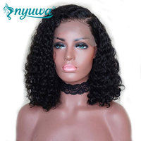 Full Lace Human Hair Wigs For Woman Pre Plucked Natural Hairline Bleached Knots Curly Bob Brazilian Remy Hair 150% density