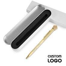 Stationery Ballpoint-Pen Laser Crown Engraving-Name Custom-Logo Metal Student Cute 1pc