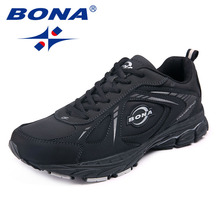 BONA New Classics Style Men Running Shoes Outdoor Jogging Sneakers Lace Up Men Sport Shoes Comfortable Light Fast Free Shipping