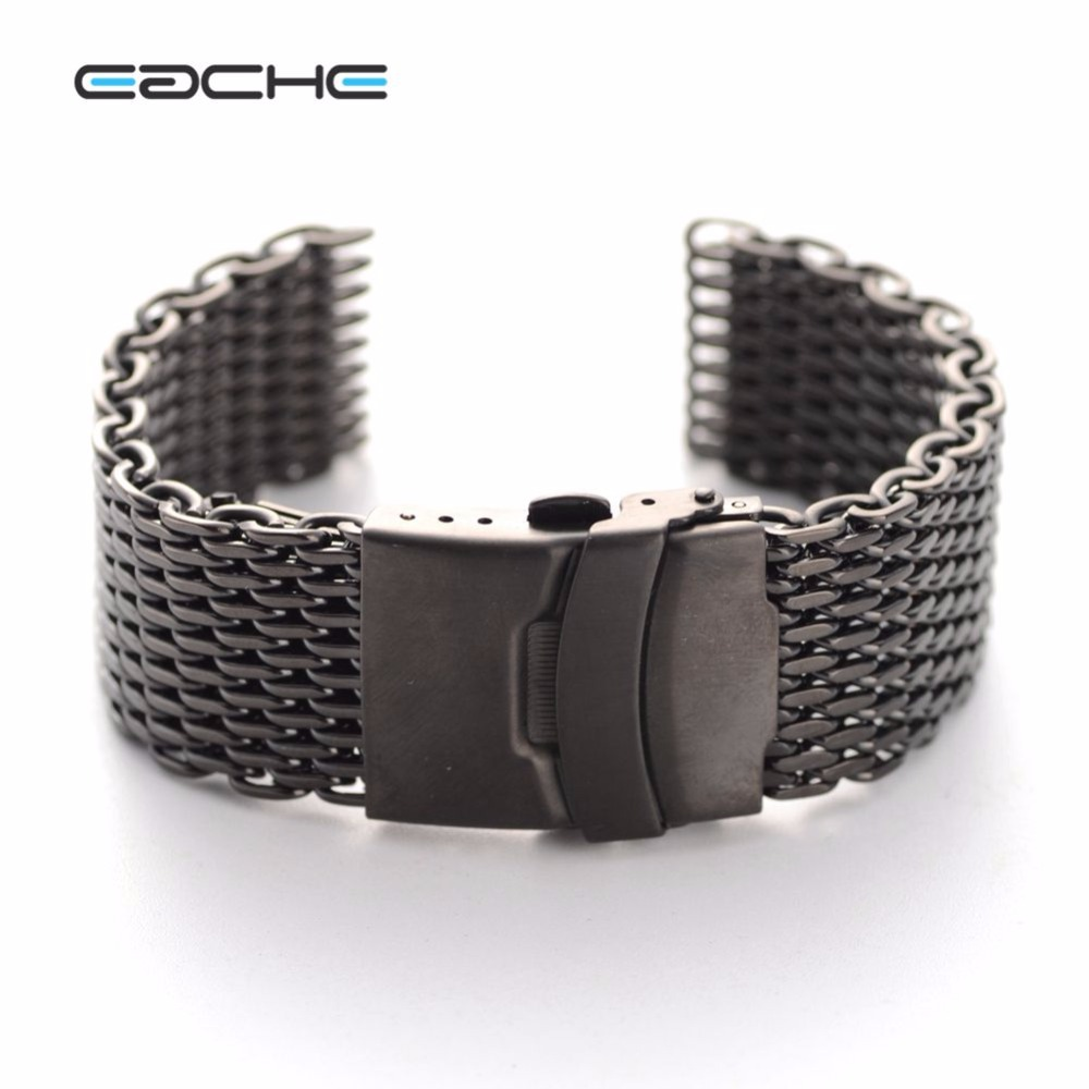 12mm Diameter Stainless Steel Mesh Watch Bands Watch Straps Smooth Head For men 20mm 22mm