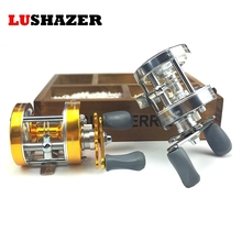Mini metal fishing reel 2+1BB CL-50 295g/pc Gun black blue color Fishing baitcasting reel left hand free shipping