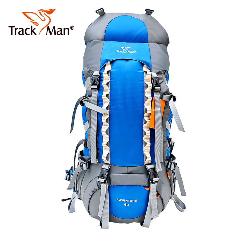 цена на 70L Large Outdoor Backpack Waterproof Unisex Nylon Travel Bags Camping Hiking Climbing Backpacks Waterproof Rucksack Sport bag