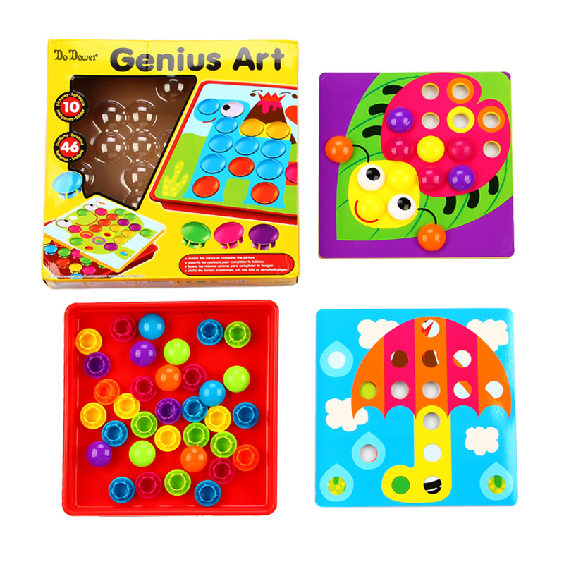 Puzzles fazer cogumelo dower puzzles brinquedos Production Tipo : Mushroom Button