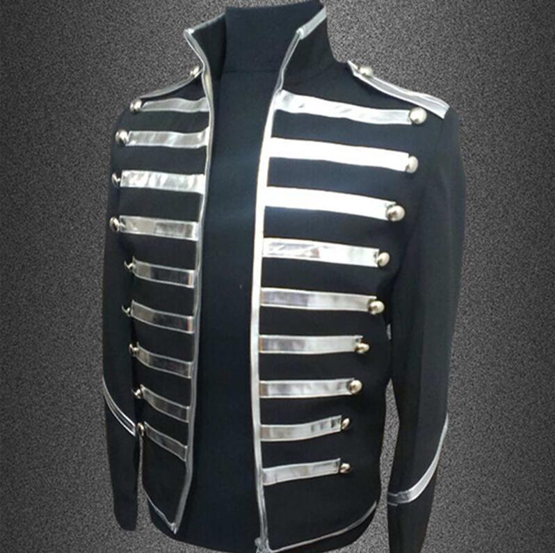 Costume Hommes Et Danse Mode Nouveau S Costumes Scène Vêtements Pu argent Veste Mince 5xl Rayures Plus Américain De Européen Chanteur 2017 Taille Or tqwF6xY