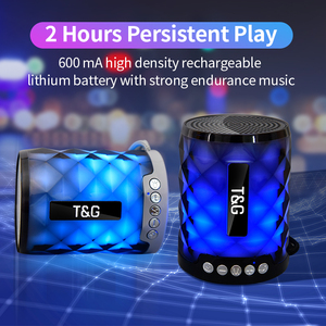 Image 3 - TG カラフルな Led の Bluetooth スピーカーポータブル屋外低音スピーカーワイヤレスミニ列サポート TF カード FM ステレオハイファイボックス