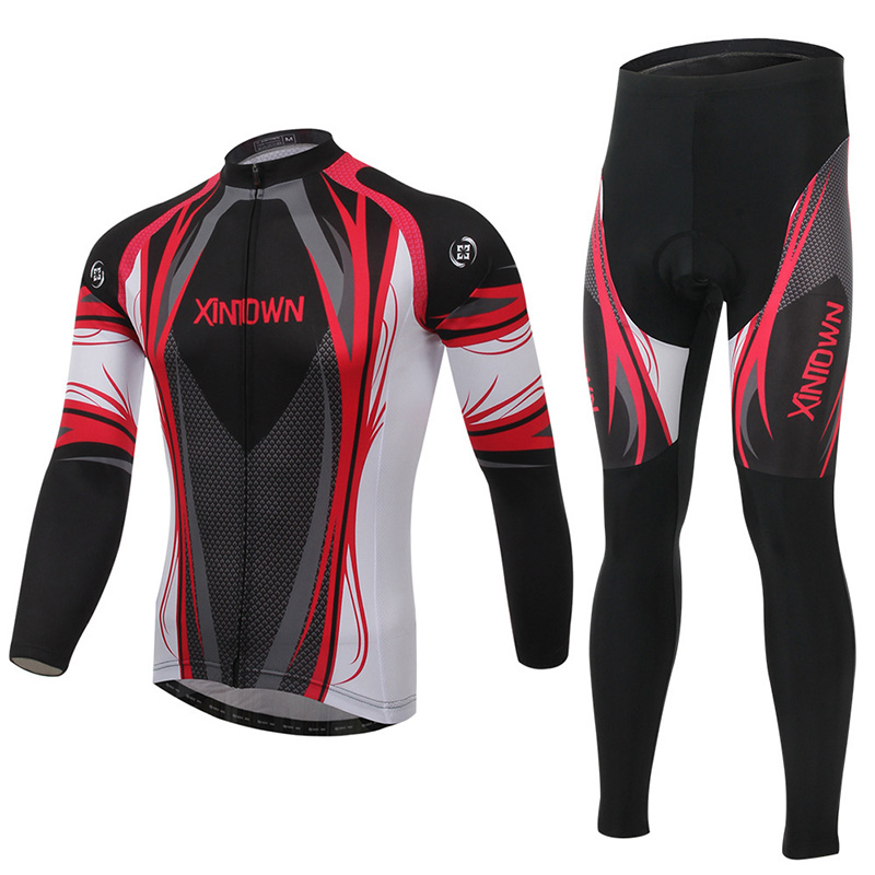 XINTOWN Black and Red Winter Long Cycling Jerseys+Pants Bike Bicycle Thermal Fleeced Wear Set Cycling Team Jersey impact of wind energy on reactive power and voltage control