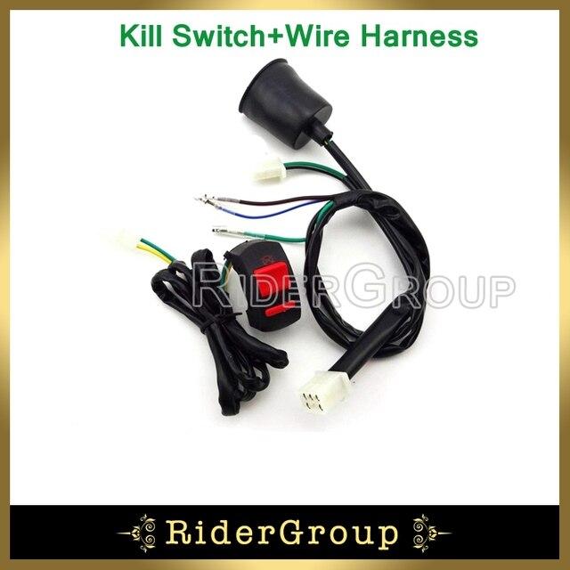 pit dirt bike kill stop switch wiring loom harness for chinese 50cc rh aliexpress com