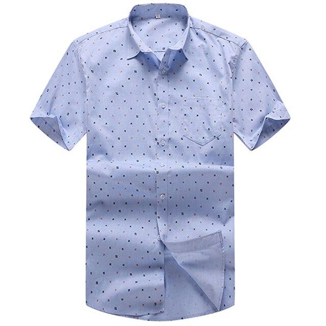 Plus Size 3XL 4XL 5XL 6XL 7XL 8XL Fashion Short Sleeve Casual Cotton Shirts  Men Summer 7232e3171771