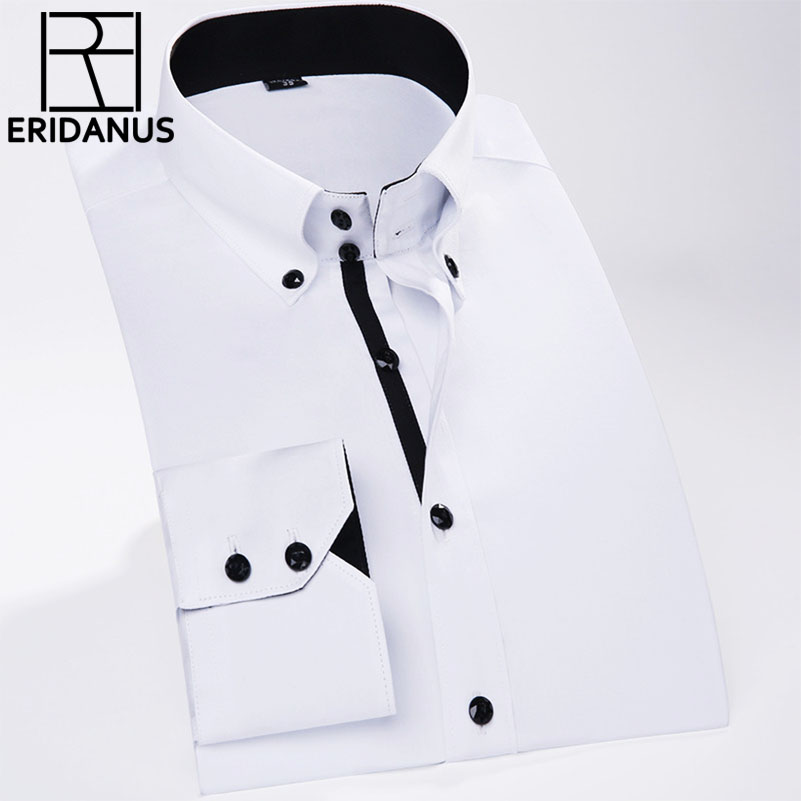 New 2017 Spring Autumn 100% Cotton Men Shirt High Quality Fashion Casual Long Sleeve Business Formal Men Dress Shirts M604 ...