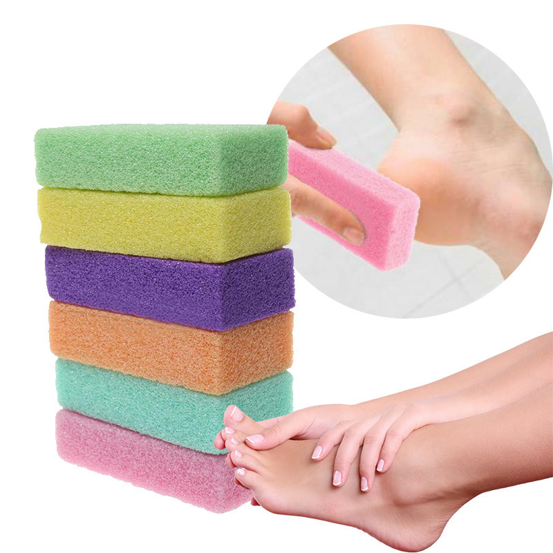 2PCS Feet Care Tools Pedicure Foot Stone Pies Remover Dead Dry Skin Smooth Exfoliating Peeling Cuticles Removal Beauty Skin Care image