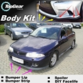 Bumper Lip Deflector Lips For Mitsubishi Carisma Front Spoiler Skirt For TopGear Friends Car Tuning View / Body Kit Wing / Strip