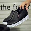 Nova chegada sapatos de plataforma branca preto mulher moda slip on toe rodada mulheres trepadeiras clássicos primavera outono apartamentos sapatos caros