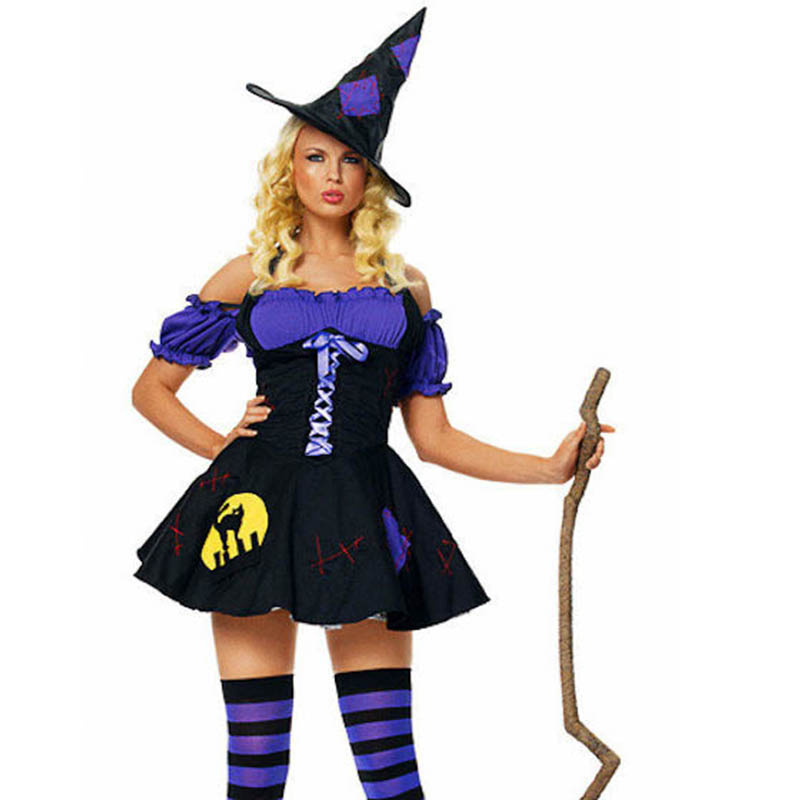Deluxe <font><b>Halloween</b></font> <font><b>Sexy</b></font> Adult <font><b>Women</b></font> Vampire Costumes Fancy Carnival Party Dress <font><b>Witch</b></font> Female Costumes Zombie Uniforms image