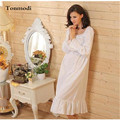 Women Nightgowns Long Sleeve Night Dress White Cotton Long Nightdress Princess Women's Lounge Sleepshirts  Evening Dress Skirt
