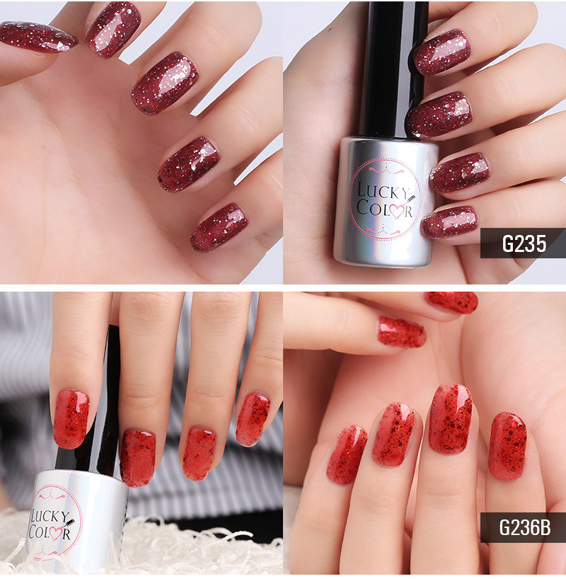 Diamond Red UV Gel Polish For Nail Art Professional LED Soak Off Gel Varnish Lacquer High Quality Free Shipping 10ml Bottle_07