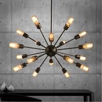 Mordern Nordic Retro pendant light Edison Bulb Lights fixtures lustre industriel iron Loft Antique DIY E27 Spider Ceiling Lamp