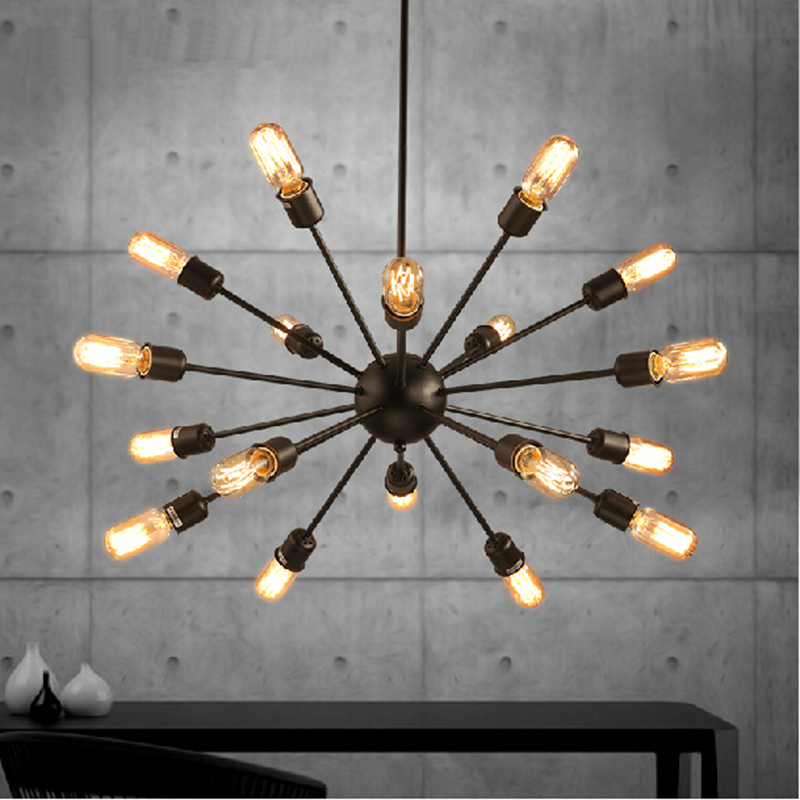 Mordern Nordic Retro pendant light Edison Bulb Lights fixtures lustre industriel iron Loft Antique DIY E27 Spider Ceiling Lamp hemp rope chandelier antique classic adjustable diy ceiling spider lamp light retro edison bulb pedant lamp for home