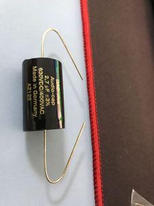 Image 2 - 1ロット/2個ドイツオリジナルgad viva亜鉛オーディオキャップシルバー0.01 μ fの 100uf 400v 630v箔発熱のオーディオコンデンサ送料無料
