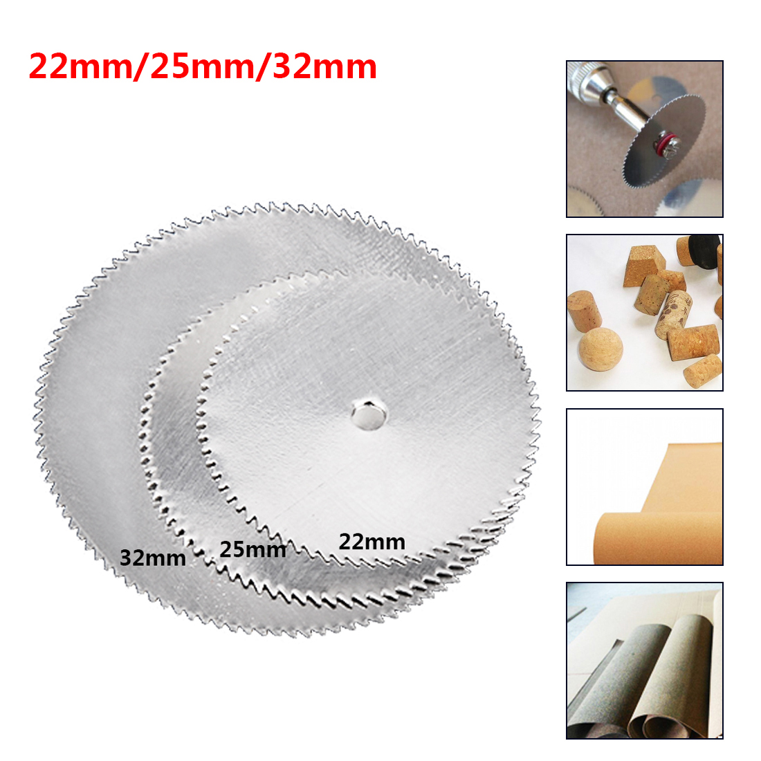 Rotary Tool Blade Cutting Tool Grinders Wood Cutting Disc For Woodworking Tool Cut Off Accessories 22mm 25mm 32mm