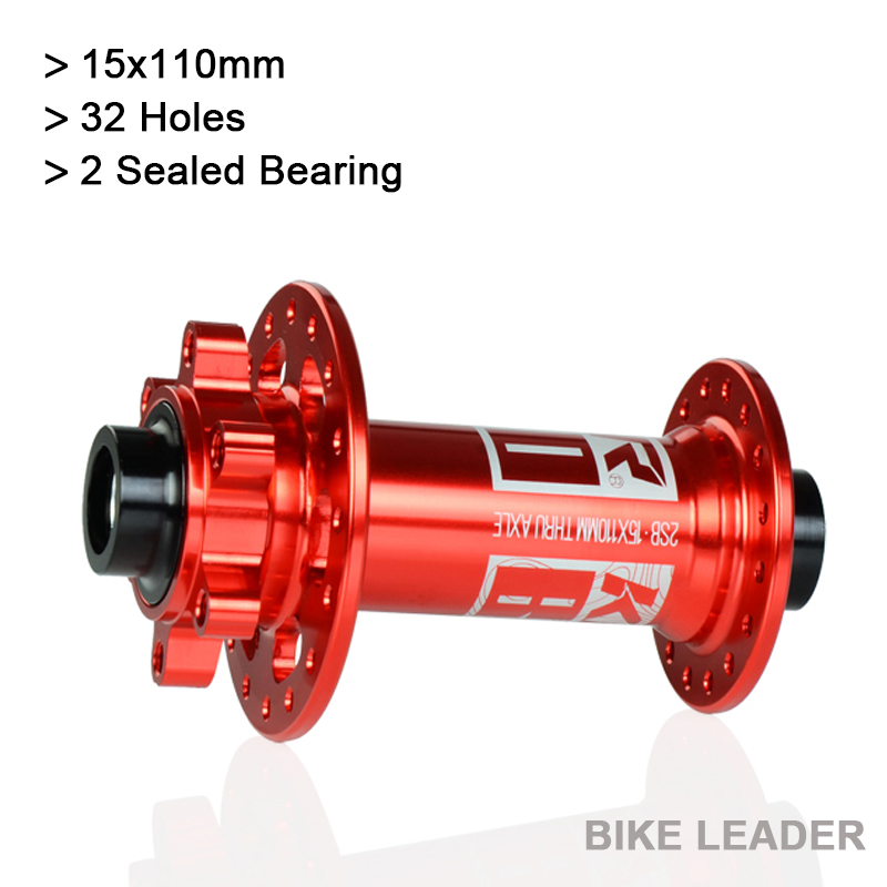 Koozer XM440 Front Bike Hub 32 Holes 15x110mm Sealed Bearing Disc Brake THRU Boost BMX XC AM Fat MTB Mountain Bicycle Hubs new koozer xm490 hubs sealed 4 bearing mtb mountain bike hub rear hub 10 135mm qr 12 142mm thru 32 holes disc brake bicycle hub