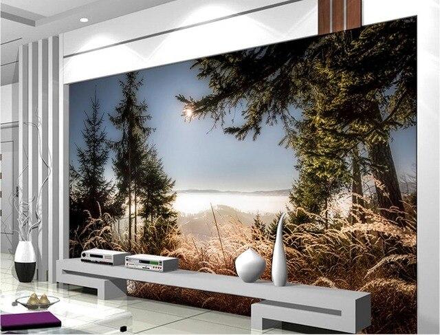 Benutzerdefinierte 3d tapeten für wohnzimmer Sonnenuntergang schöne ...