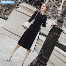 New Arrivals Autumn Black Dress Women Long Sleeve Dresses Female Streetwear Vintage Spring Casual Ladies Vestidos 3XL
