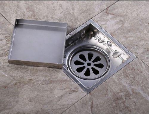 Tile Insert Rectangular Floor Waste Grates Bathroom Shower