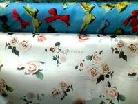 באיכות גבוהה בד רוחב רחב הוא אורגנזה משי פרחים וbowknot ורדים ורוד לבוש הרשמי בד בד טול הכחול רול
