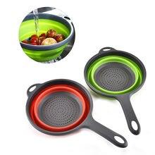 Кухонная мойка овощей фруктов складное сито инструменты Пластиковые
